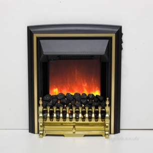 Be Modern Fires Gas and Electric -  Be Modern Bm Comet Electric Fire Brass