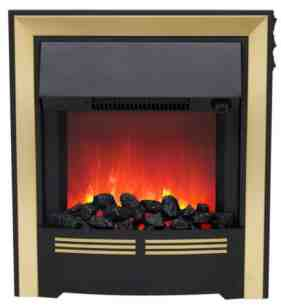 Be Modern Fires Gas and Electric -  Bm Vitesse Electric Fire Brass 032875