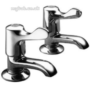 Pegler Quarter Turn Contract Brassware -  Pegler 2159qt F/restrictor Basin Taps Cp