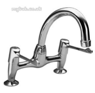 Pegler Quarter Turn Contract Brassware -  Pegler 2523qtel Extd Lever Sink Mixer Cp