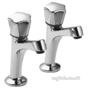 Pegler Contract Brassware -  Danum 150 1/2 Inch Hn Sink Taps Pair Cp