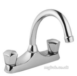 Pegler Contract Brassware -  Danum Plus 5522 Dcd D/f Deck Sink Mixer Cp