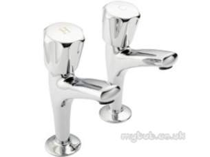 Pegler Contract Brassware -  Polo 1/2 Inch High Neck Sink Taps