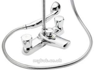 Pegler Contract Brassware -  Polo Bath/shower Mixer C/w Kit 439902