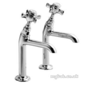 Pegler Luxury Kitchen Brassware -  Sequel 6158cp 1/2 Inch H/neck Sink Taps Cp