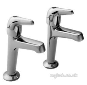 Pegler Luxury Bathroom Brassware -  Leger L502 1/2 Inch Sink Pillar Taps Pair