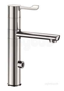 Delabie Brassware -  Delabie Electronic Mix 230v High Swivel Spout H165 L160 Lever L100