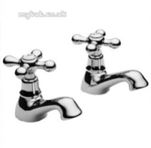 Pegler Contract Brassware -  Souvenir 3/4 Inch Bath Taps Pair Cp