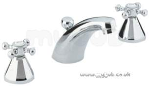 Grohe Tec Brassware -  Grohe Arabesk 20701 1/2 Inch Basin Mixer 3th Puw Cp