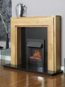 Flavel Gas Fires -  Flavel Ultiflame Contemp Black Fire Ng