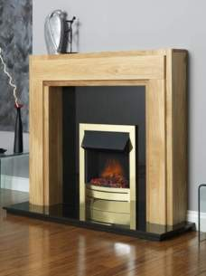 Flavel Gas Fires -  Flavel Ultiflame Contemp Brass Fire Ng