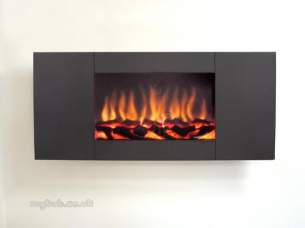 Flavel Electric Fires -  Flavel Marino Panoramic Black Electric