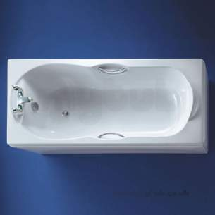 Ideal Standard Acrylic Baths -  Ideal Standard Alto E769001 Water Saving Bath 1700 X 700 Wh Two Tap Holes And Hg