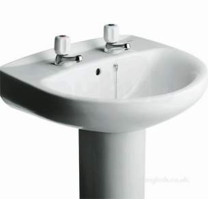 Roca Sanitaryware -  Roca Laura 560 Basin 2th White 328396000