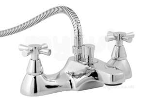 Deva Brassware -  Deva Milan Deck Mount Bath/shower Mixer And Kit