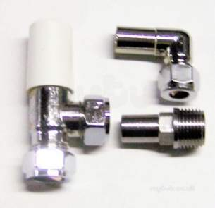 Myson Manual Radiator Valves -  Myson Matchmaster 10mm 90d Wh Cp Cmp Ppv