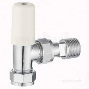 Terrier and Belmont Radiator Valves -  Terrier 367 8mm X 1/2 Inch Mi Angle Ls Chrome
