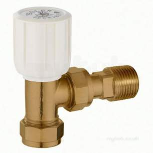 Terrier and Belmont Radiator Valves -  Terrier 367 10mm X 1/2 Inch Mi Angle Wh Brass