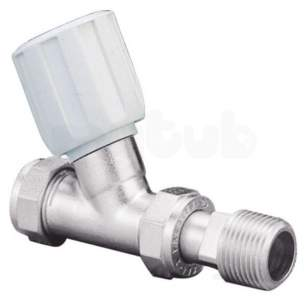 Terrier and Belmont Radiator Valves -  Pegler Yorkshire Terrier 368 368 Male Iron Straight White Chrome 15x0.5 Inch 1 Pack