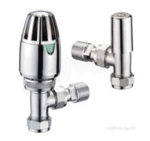 Pegler TRVs -  Terrier 1/2 Inch X10mm Angle Wh And Ls Pack Cp