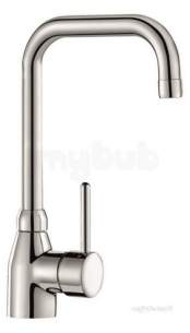 Delabie Brassware -  Delabie Sink Mixer With Swivel Spout H220 L200mm No Waste