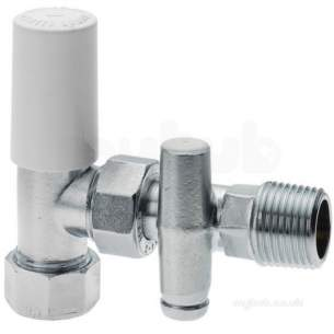 Plumb Center Radiator Valves -  Cb 8mm Dls Rad Valve C/w Do Cp 643018