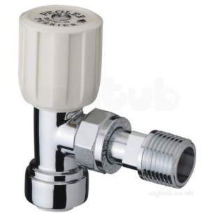 Terrier and Belmont Radiator Valves -  1/2x15mm 367pf Cpwh Ang C/w 10mm Elb