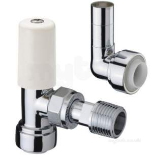 Terrier and Belmont Radiator Valves -  1/2x15mm 367pf Cpls Angle C/w 10mm Elb