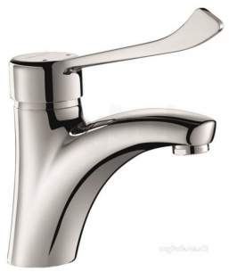 Delabie Basin Mixers -  Delabie Mechanical Basin Mixer H85mm No Waste Hygiene Lever