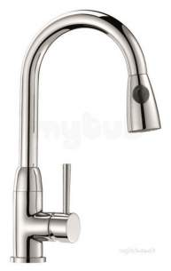 Delabie Brassware -  Delabie Mechanical Mixer Swivel Spout H210 L190mm Retractable Spray