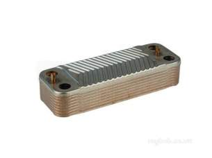 Glow Worm Boiler Spares -  Glow Worm 2000802484 Domestic Heat Exchanger