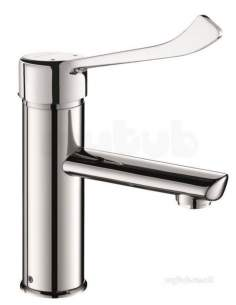 Delabie Basin Mixers -  Delabie Bioclip Mechanical Basin Mix H85mm No Waste Hygiene Lever