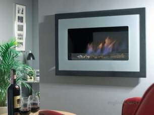 Flavel Gas Fires -  Flavel Pure Gas Fire Silver/black Glass