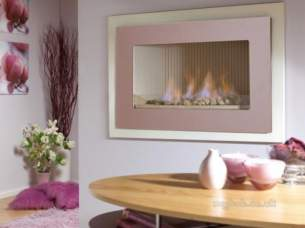 Flavel Gas Fires -  Flavel Pure Gas Fire Cream/rose Glass