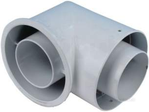 Caradon Ideal Domestic Boiler Spares -  Ideal 111046 Flue Turret Painted