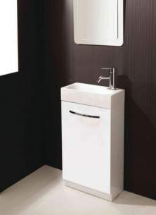 Flabeg Cabinets and Mirrors -  Hib 9501300 White Cassino Cloakroom Floor Standing Unit Single Door