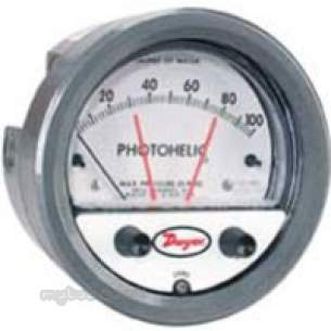 Dwyer Instruments Magnehelic Gauges -  Dwyer 3000 Mr Photohelic Gge 0-250pa 24vdc