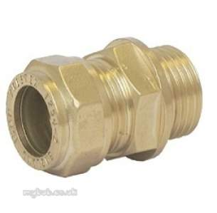 Prestex Compression Fittings -  Prestex 42 15mm X 1/4 Inch Mi Str Coupling