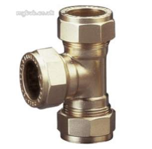 Prestex Compression Fittings -  Pegler Yorkshire Prestex 50 10mm Equal Tee
