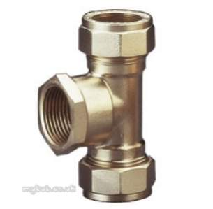 Prestex Compression Fittings -  Prestex 54 28mm X 28mm X 3/4 Inch Fi Red Tee