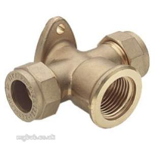 Prestex Compression Fittings -  Prestex 54x 15mm X 1/2 Inch Fi Tee With Brkt