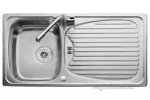 Rangemaster Sinks -  Euroline 1.0b Ss Sink And Aqnmc Ad2 Tap