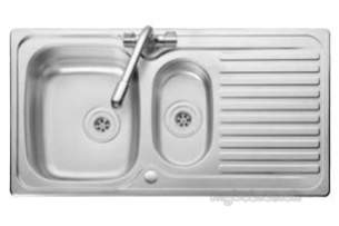 Rangemaster Sinks -  Linear 1.5b One Tap Hole Rhd Nc And Af1 Tap Ctr