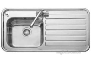 Rangemaster Sinks -  Luxe Lx105l 1000 X 500 Two Tap Holes Sblhd Ss