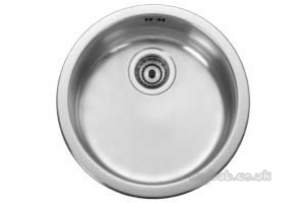 Rangemaster Sinks -  Uk Rb440bf/ Round Bowl Brushed Steel