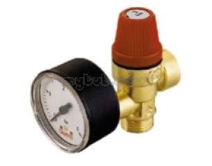 Altecnic Sealed System Equipment -  Altecnic 1/2 Inch Mxf Safety Valve And Gauge