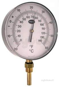 Brannan Thermometers -  150mm Alpha Vert Therm -20/60c And F 32/964