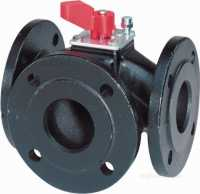 Landis and Staefa Hvac -  Siemens Vbf 21.65 65mm 3port Flanged Valve Cv-63