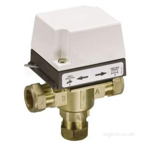 Danfoss Randall Domestic Controls -  Danfoss 087n665100 White Hs3b28 3 Port Valve And Actuator 28mm