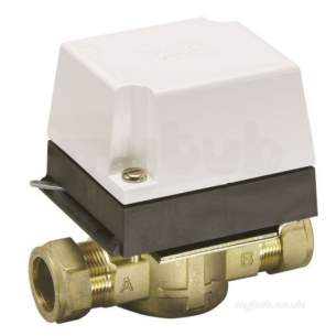 Danfoss Randall Domestic Controls -  Danfoss 087n660900 White Hp22b 2 Port Valve 22mm